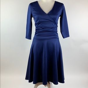 Missky- Navy Blue Dress
